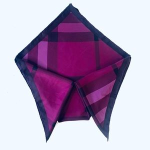 BURBERRY PURPLE GEOMETRIC PRINT SCARF